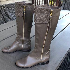 Louis Vuitton leather boots.